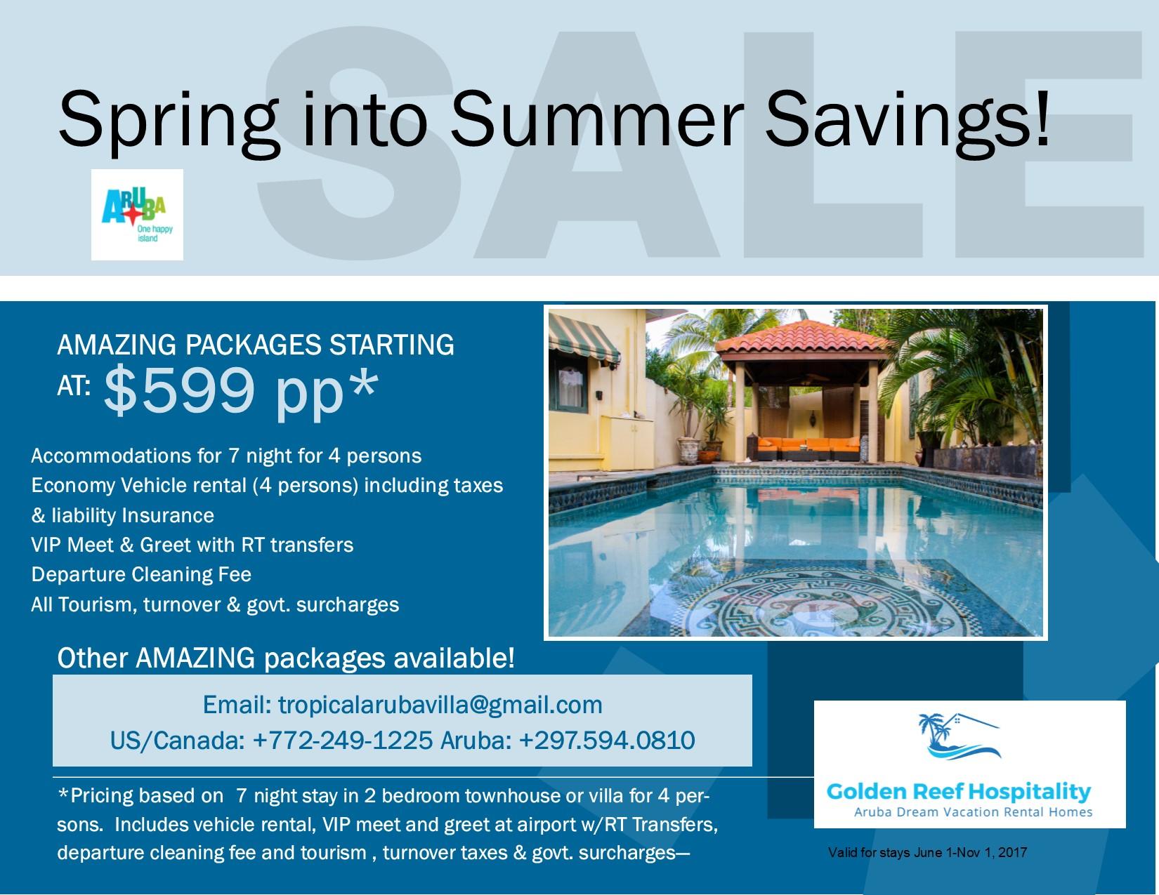 Aruba Vacation Villa Rentals